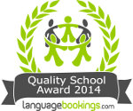 Quality school award 2014 LanguageBookings.com